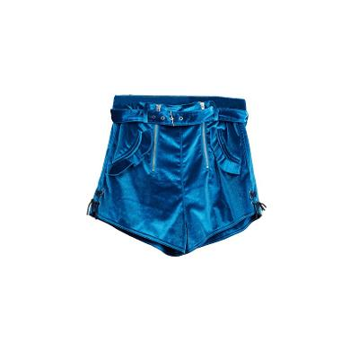 electric blue shorts with side details blue